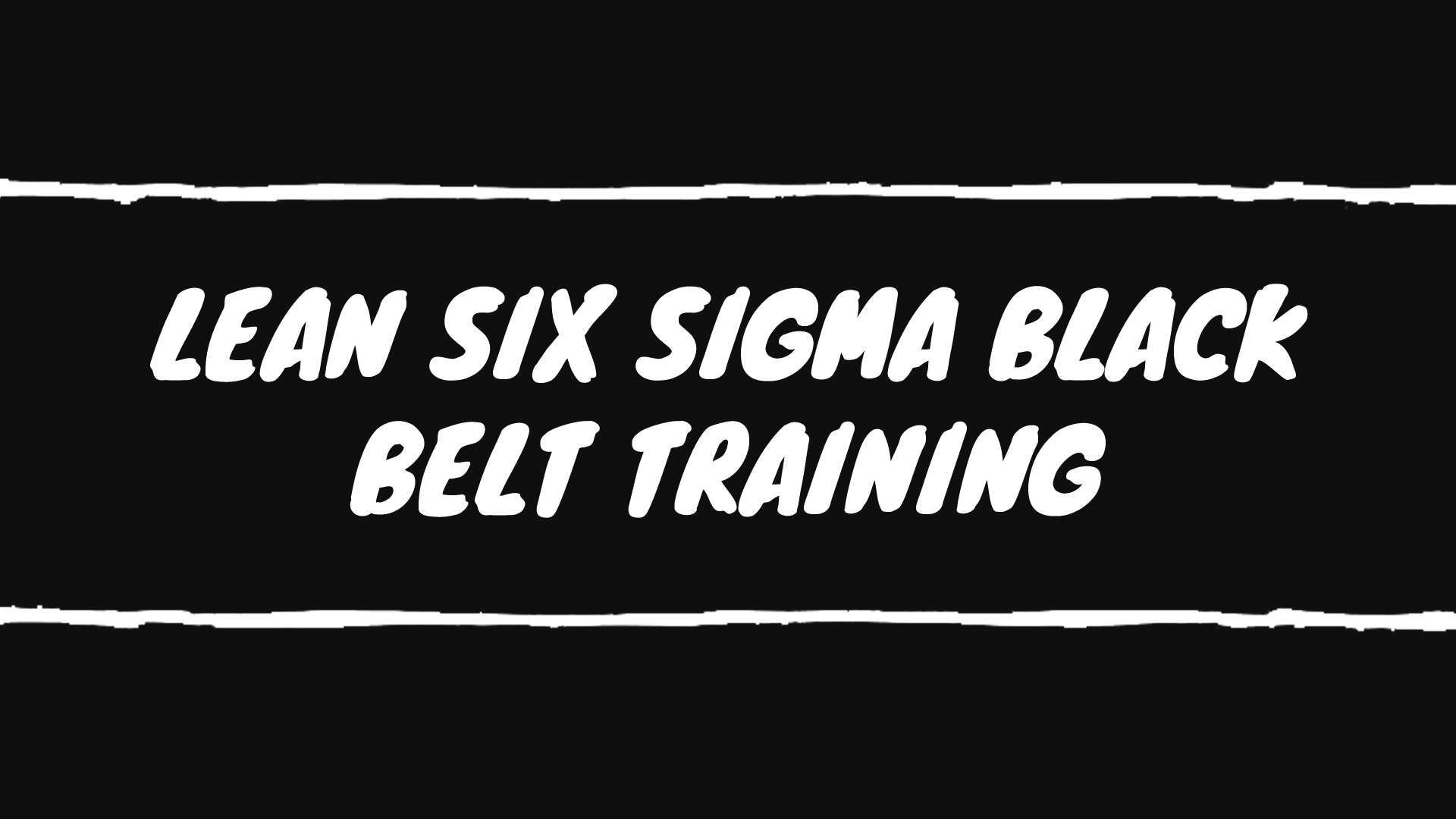 Lean Six Sigma Black Belt Certification Program